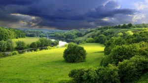 Green Landscape Wallpaper 1366x768