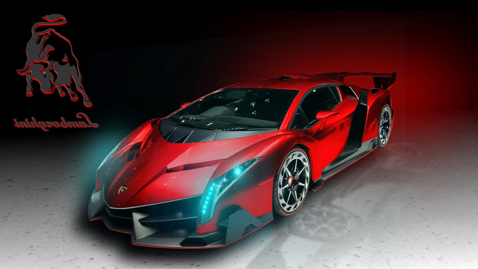 Download Lamborghini Red Cars Wallpaper Full Size