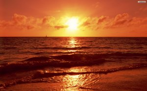 Beach Sunset Wallpaper Image Picture