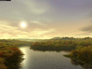 River Evening Wallpapers Computer