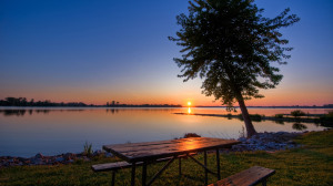Sunset On The Lake Wallpaper Image Photography
