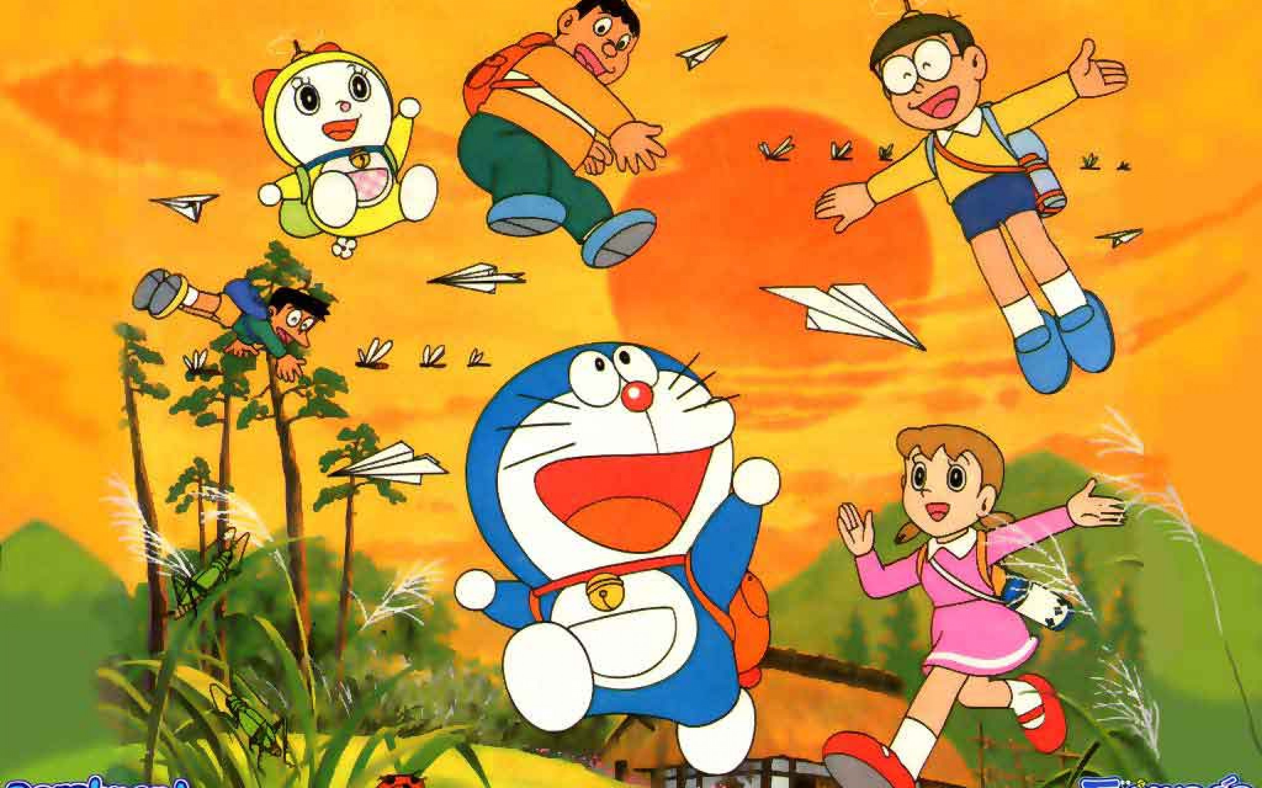 Doraemon All Friends Wallpaper 6189 Walldiskpaper