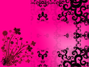 Pink And Black Pattern Wallpaper