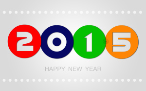 Colorful Happy New Year Wallpaper PC