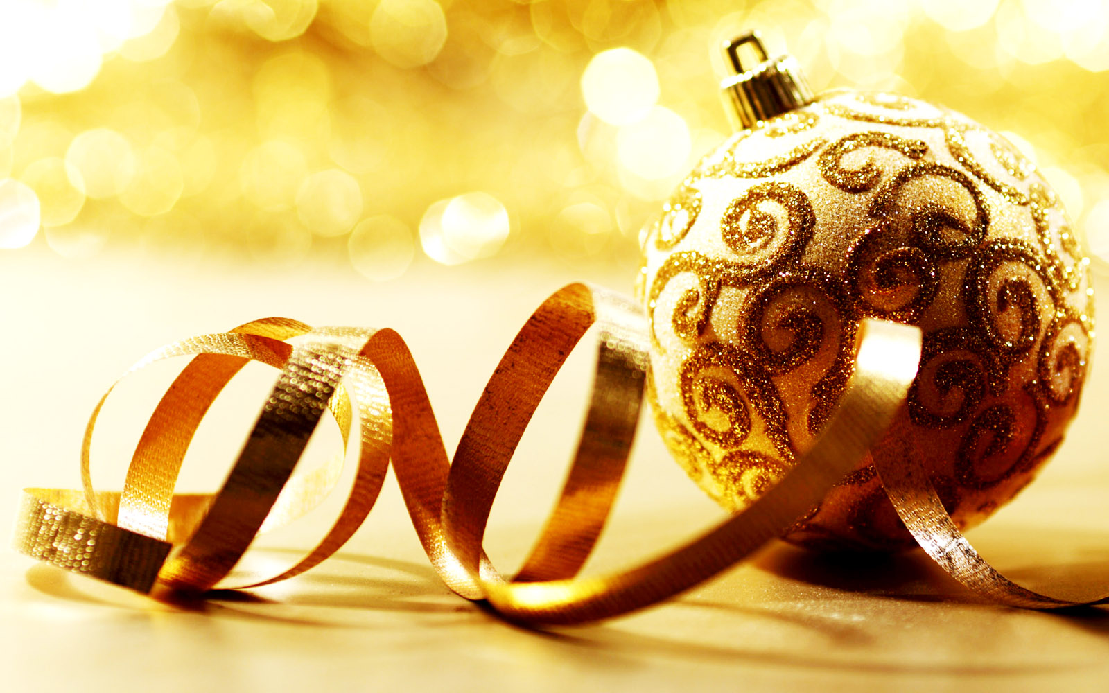 Decoration Gold Wallpaper Christmas