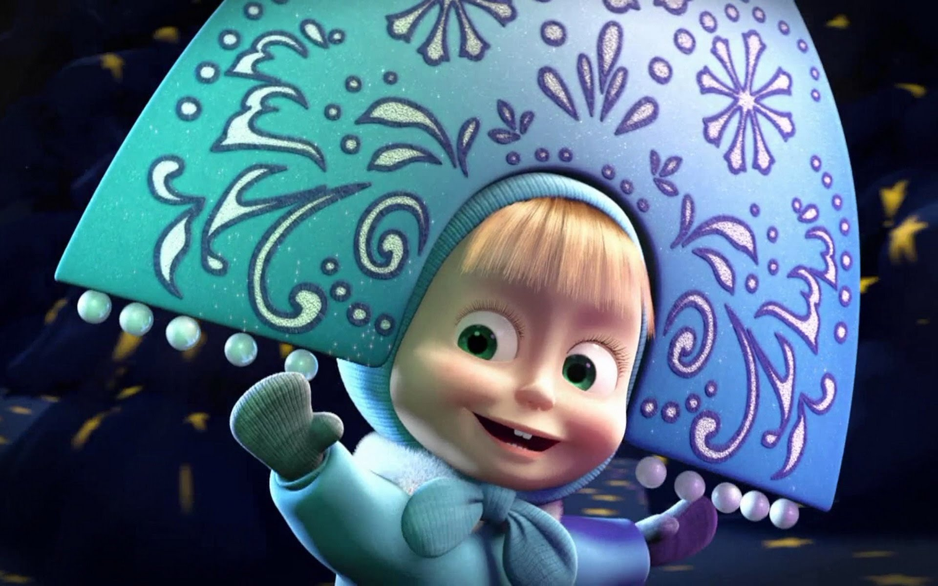 Masha And The Bear Wallpaper Animation 3D