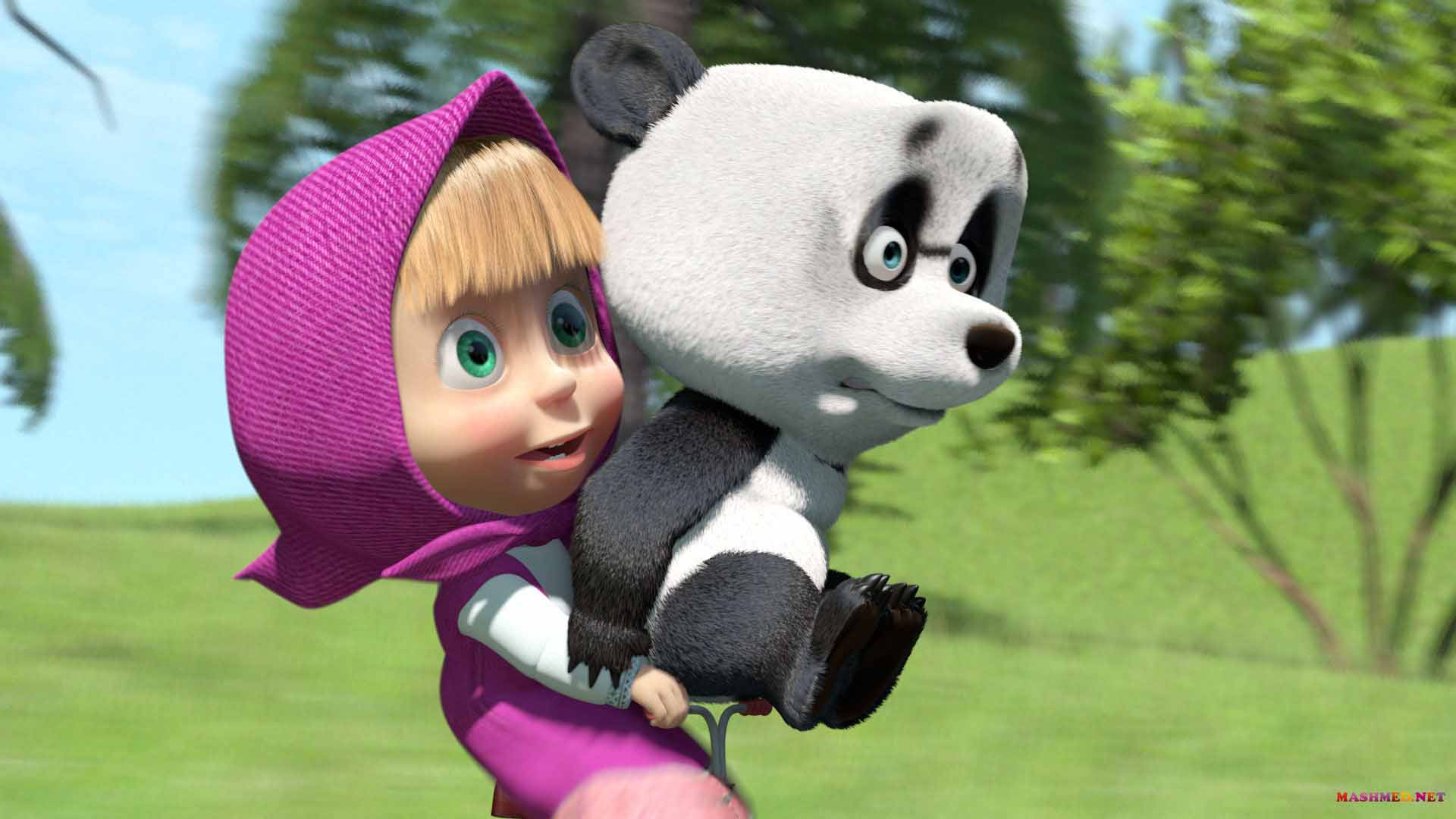 Masha And The Bear Wallpaper Themes Cute