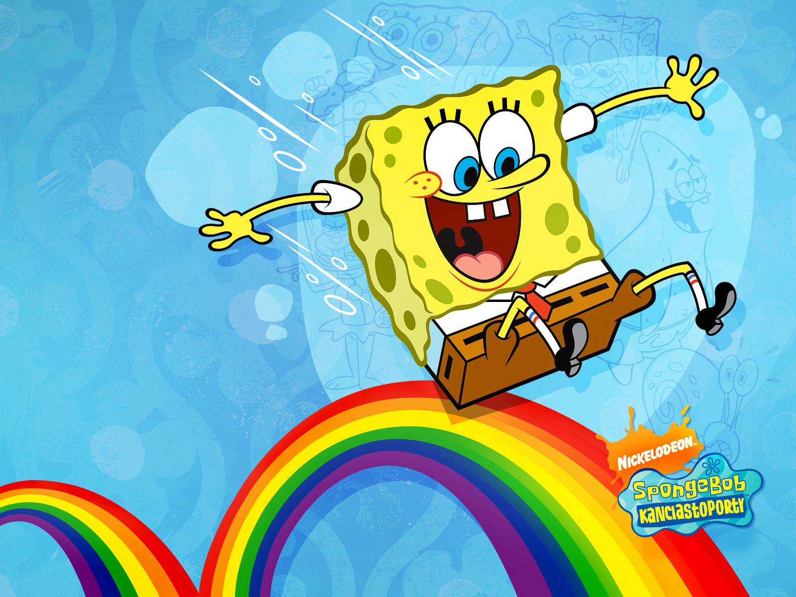 Rainbow Spongebob Wallpapers 9444 Wallpaper Walldiskpaper