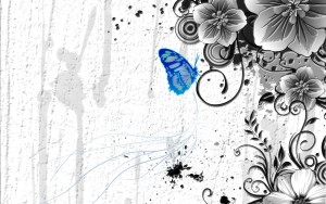 Abstract Butterfly Wallpaper