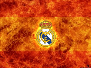 Real Madrid Wallpaper Fire Logo