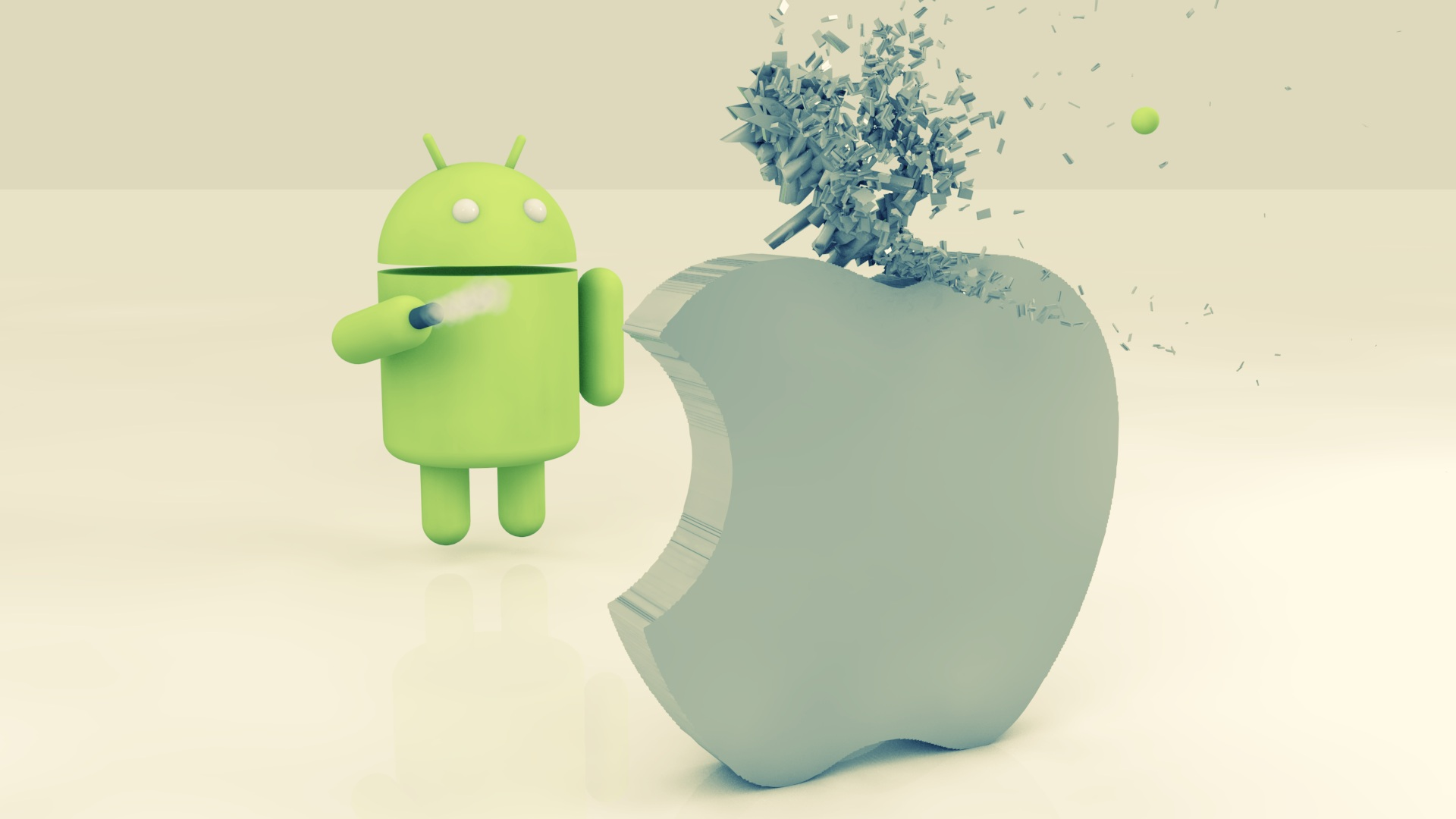 android shoot apple image hd