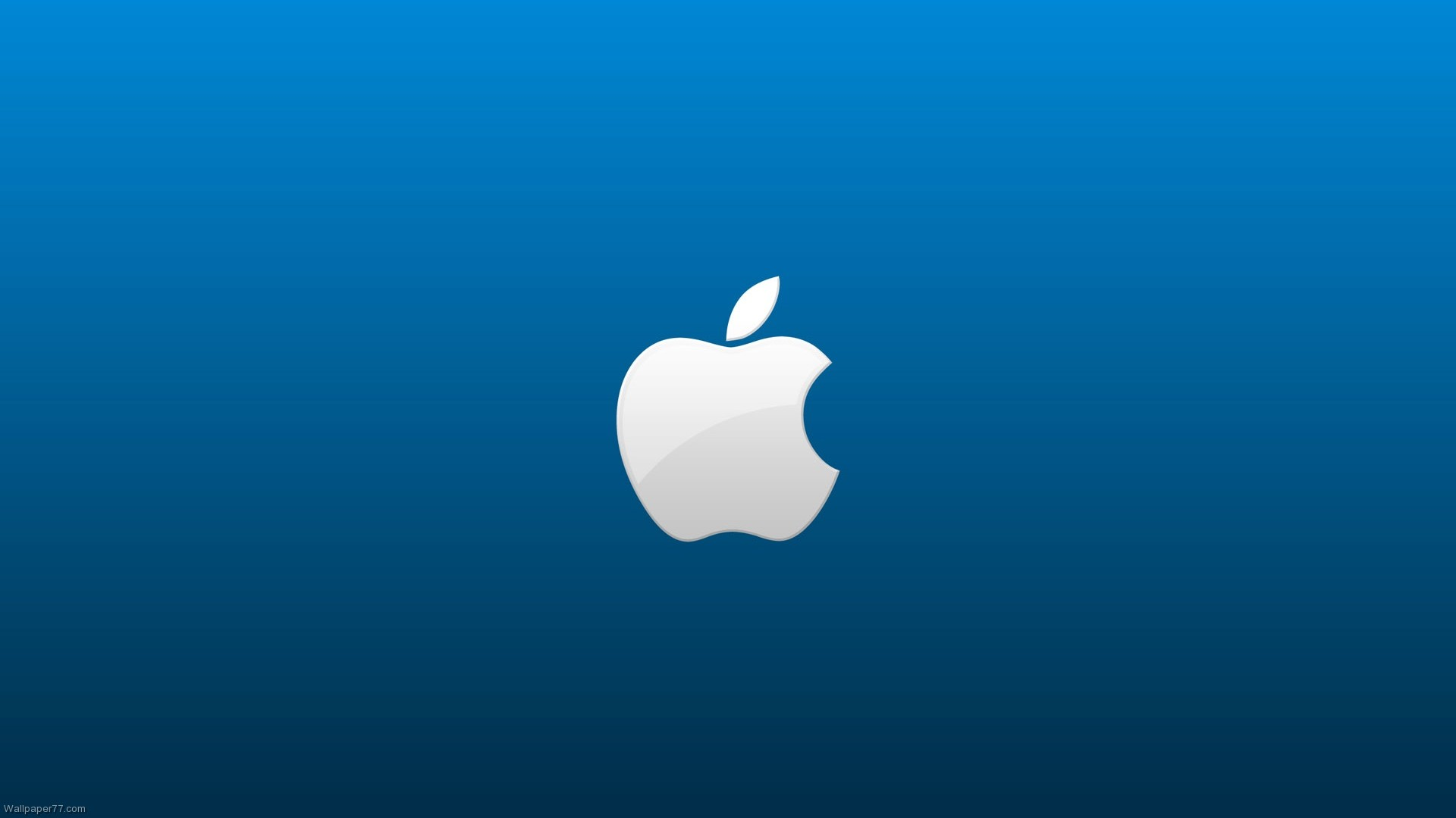 Apple Blue Background
