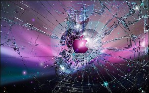 Apple Broken 3D Wallpapers