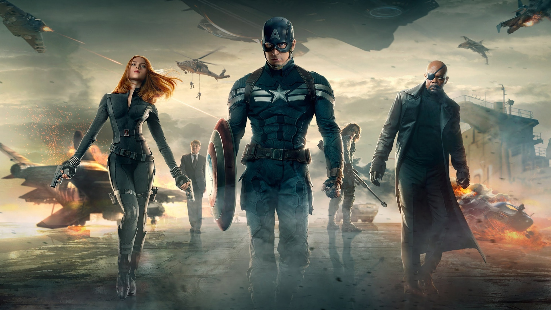 Captain America And Team Picture