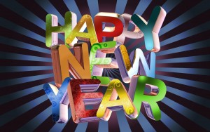 Happy New Year Color Wallpaper