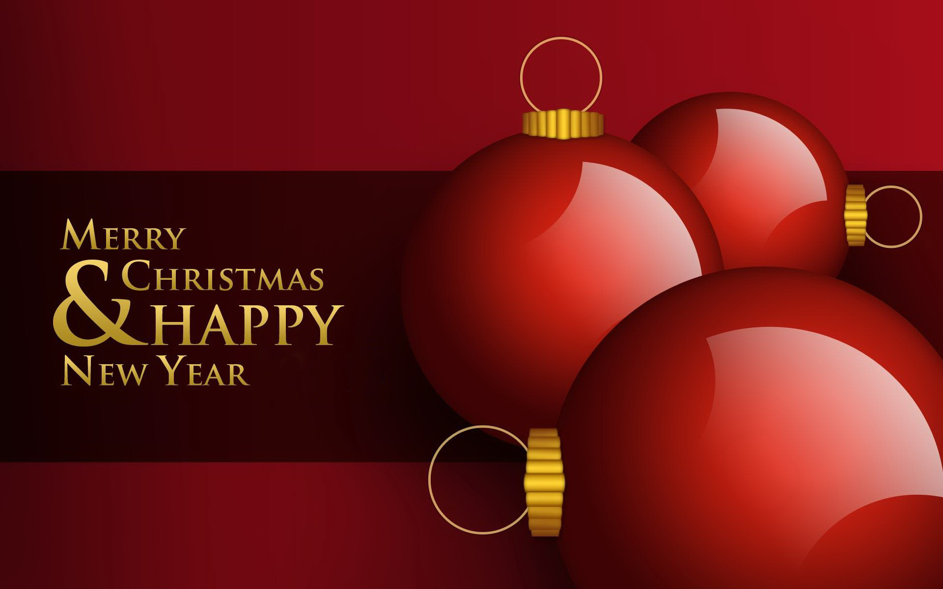 Merry Christmas And Happy New Years 2015 Wallpaper