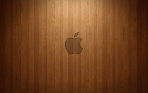 Apple Wooden Wallpaper